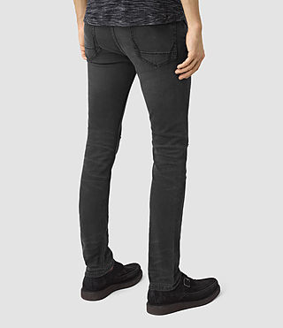 Mens Messier Cigarette Jeans (Black) - product_image_alt_text_3
