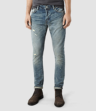 Men's Stereo Cigarette Jeans (Light Indigo)