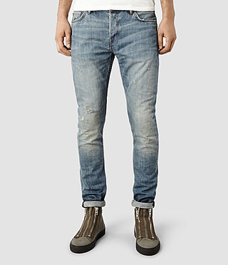 Mens Vidal Cigarette Jeans (Light Indigo)