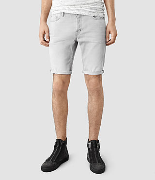 Men's Shade Switch Denim Shorts (Light Grey)