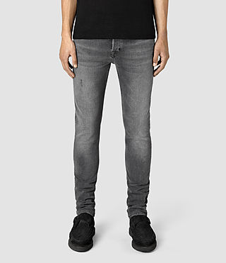 Men's Misisle Cigarette Jeans (Black) -