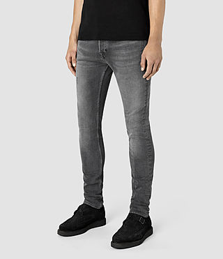 Mens Misisle Cigarette Jeans (Black) - product_image_alt_text_2