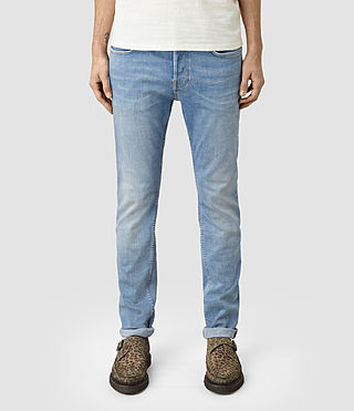 Mens Berard Cigarette Jeans (Indigo Blue) - product_image_alt_text_1