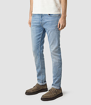 Mens Berard Cigarette Jeans (Indigo Blue) - product_image_alt_text_2