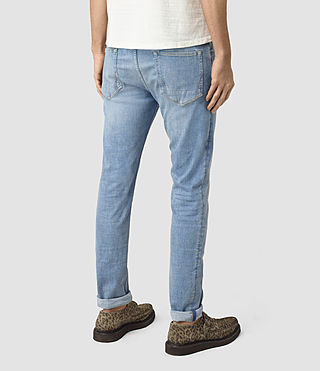 Mens Berard Cigarette Jeans (Indigo Blue) - product_image_alt_text_3