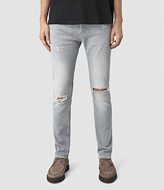 Mens Lias Cigarette Jeans (Grey) - product_image_alt_text_1