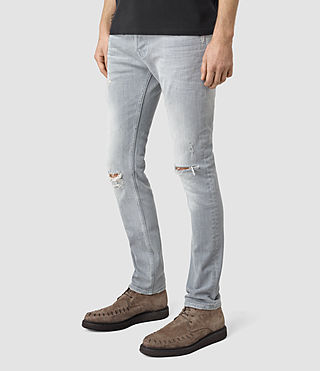 Mens Lias Cigarette Jeans (Grey) - product_image_alt_text_2