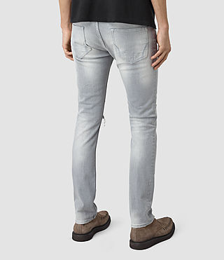 Mens Lias Cigarette Jeans (Grey) - product_image_alt_text_3