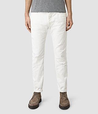 Mens Common Pistol Jeans (White)