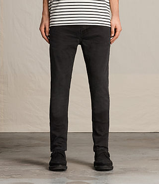 Mens Naniwa Cigarette Jeans (Washed Black) - product_image_alt_text_1