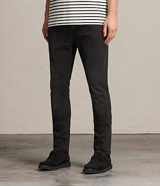 Mens Naniwa Cigarette Jeans (Washed Black) - product_image_alt_text_2