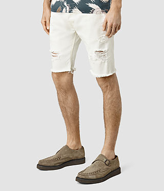 Hombres Rotary Switch Short (White) - product_image_alt_text_2