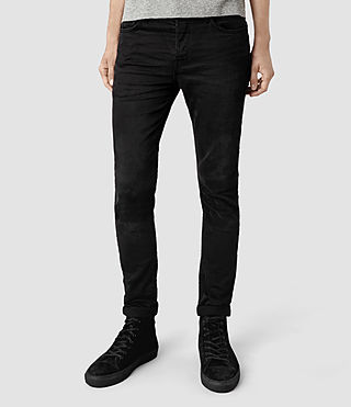 Mens Naniwa Razor Jeans (Washed Black)