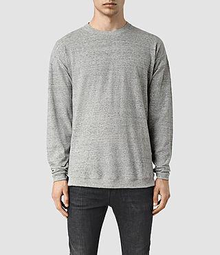Mens Etrain Crew Sweatshirt (Grey Mouline)