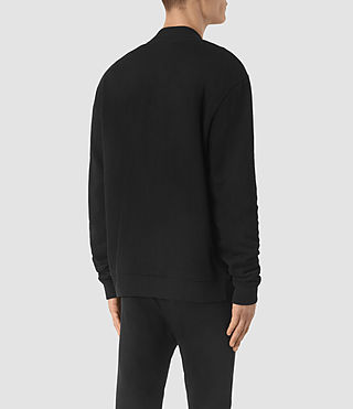 Hombres Sudadera Bomber Double (Jet Black) - product_image_alt_text_4