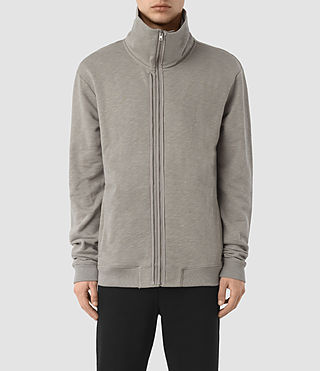 Men's Double Funnel Neck Sweatshirt (Putty Brown)