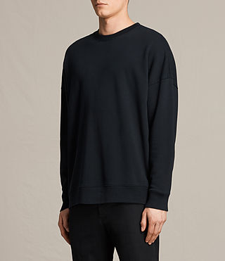 Men's Anark Crew Sweatshirt (Jet Black) - product_image_alt_text_2