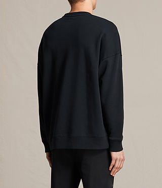 Men's Anark Crew Sweatshirt (Jet Black) - product_image_alt_text_3