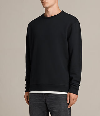 Mens Putro Crew Sweatshirt (Jet Black) - product_image_alt_text_3