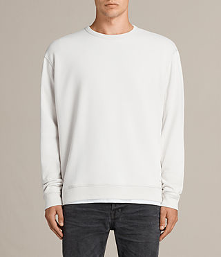 Men's Putro Crew Sweatshirt (IVORY GREY) -