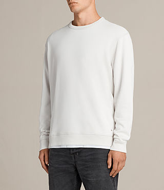 Men's Putro Crew Sweatshirt (IVORY GREY) - product_image_alt_text_3