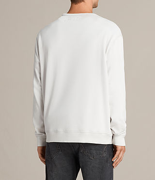 Men's Putro Crew Sweatshirt (IVORY GREY) - product_image_alt_text_4