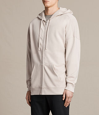 Hombre Anark Zip Hoody (ROSE GREY) - product_image_alt_text_2