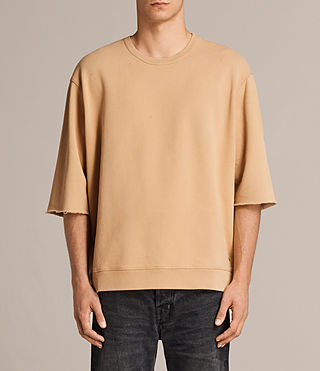 Men's Putro Short Sleeve Crew Sweatshirt (SAHARA YELLOW) - Image 1
