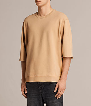 Men's Putro Short Sleeve Crew Sweatshirt (SAHARA YELLOW) - Image 3