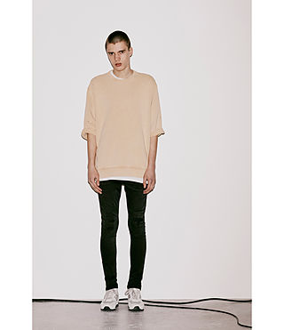 Men's Putro Short Sleeve Crew Sweatshirt (SAHARA YELLOW) - Image 5