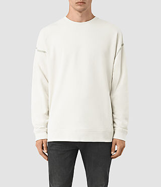 Hommes Vander Crew Sweatshirt (VINT WHITE/FROSTY) -