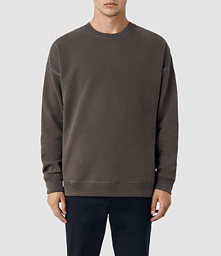 Hombres Vander Crew Sweatshirt (KHAKI BROWN/GREY)