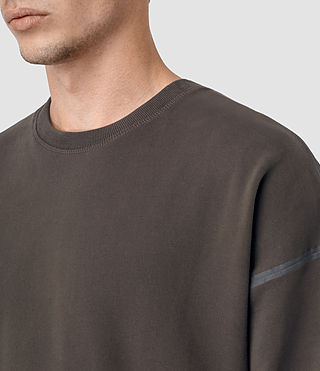 Hombres Vander Crew Sweatshirt (KHAKI BROWN/GREY) - product_image_alt_text_2