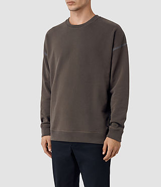 Hombres Vander Crew Sweatshirt (KHAKI BROWN/GREY) - product_image_alt_text_3