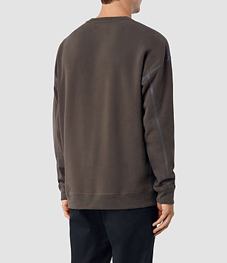 Hombres Vander Crew Sweatshirt (KHAKI BROWN/GREY) - product_image_alt_text_4