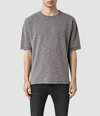 Mens Halam Short Sleeve Crew Sweatshirt (SLAT GRY/SPHNX PNK)