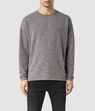 Mens Halam Crew Sweatshirt (SLAT GRY/SPHNX PNK)