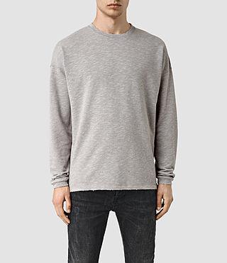 Mens Halam Crew Sweatshirt (WHSD BLK/STEPL GRY)