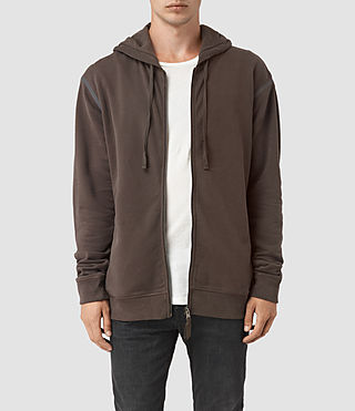 Hommes Vander Zip Hoody (KHAKI BROWN/GREY) -