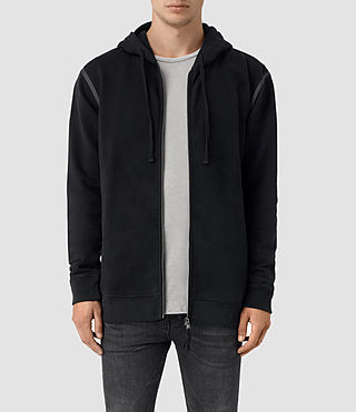 Mens Vander Zip Hoody (Black/Black)