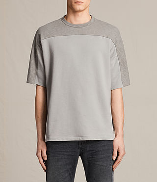Hommes Harlston Short Sleeve Crew Sweatshirt (Putty Brown)