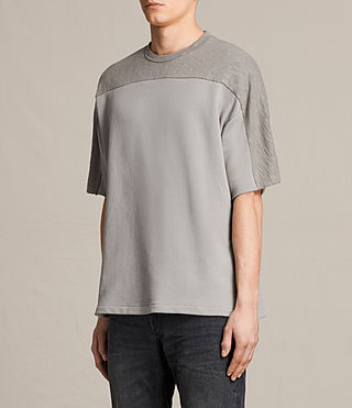 Hombre Harlston Short Sleeve Crew Sweatshirt (Putty Brown) - product_image_alt_text_2