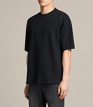 Mens Harlston Short Sleeve Crew Sweatshirt (Jet Black) - product_image_alt_text_2