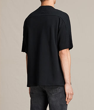 Mens Harlston Short Sleeve Crew Sweatshirt (Jet Black) - product_image_alt_text_3