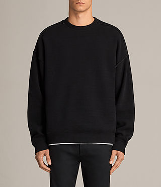 Men's Cortel Crew Sweatshirt (JET BLACK/CHARCOAL) - Image 1