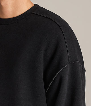 Men's Cortel Crew Sweatshirt (JET BLACK/CHARCOAL) - Image 2