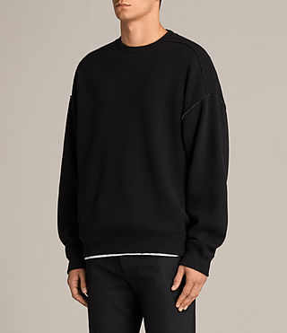 Men's Cortel Crew Sweatshirt (JET BLACK/CHARCOAL) - Image 3