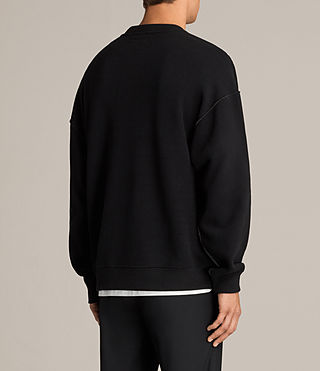 Men's Cortel Crew Sweatshirt (JET BLACK/CHARCOAL) - Image 4