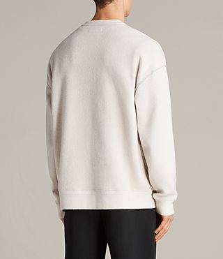 Hombre Sudadera Cortel (CHALK/TAUPE) - Image 4