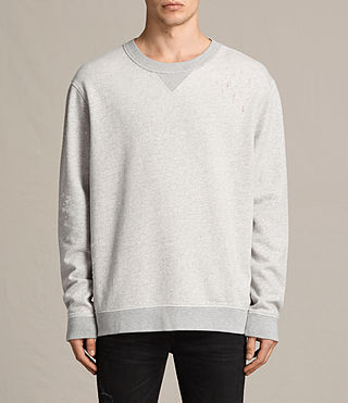 Mens Ictus Crew Sweatshirt (Grey Marl) - product_image_alt_text_1